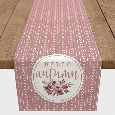 The Holiday Aisle Abree Hello Autumn Boho Table Runner | Wayfair #helloautumn