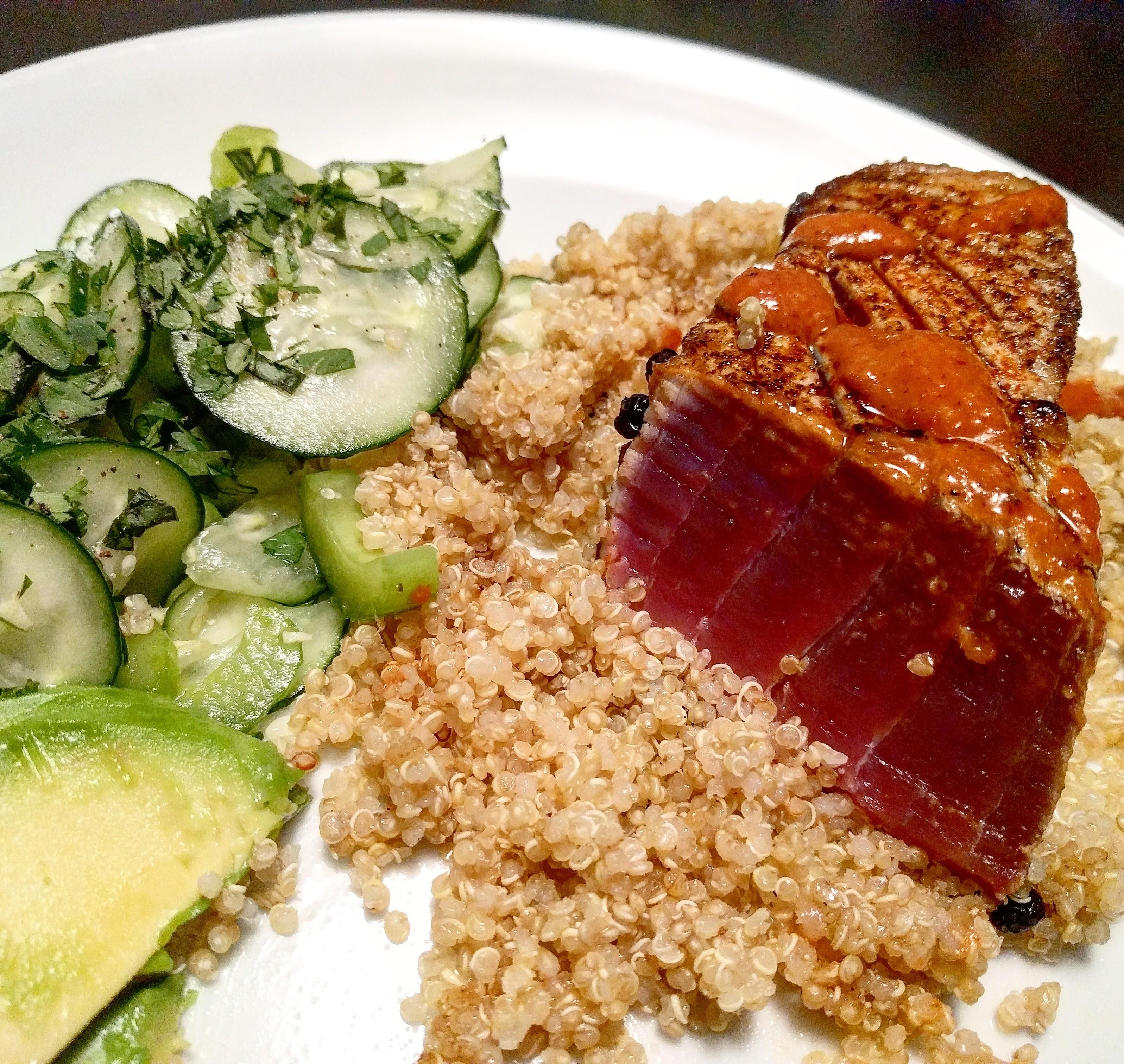 Homemade vacation themed dinner seared ahi with a refreshing homemade vacation themed dinner seared ahi with a refreshing cucumber salad recipes food cooking delicious foodie foodrecipes cook recipe health forumfinder Choice Image