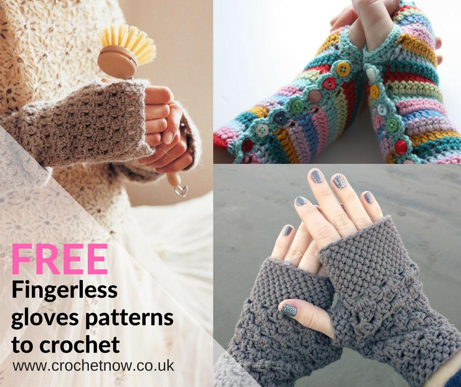 FREE Fingerless Gloves Patterns To Crochet Для рук Pinterest Cool Free Fingerless Gloves Crochet Pattern