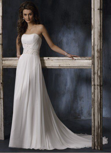 Chiffon Sheath With Embellished Wide Waist Band [WG1361] - $249.00 : LuxeBlue Quality Discount Wedding Dresses & Formal Gowns, Worlds leading supplier of affordable fashion for Wedding dresses, Bridal gowns and discount formal wear. Safe & Fast delivery world wide.