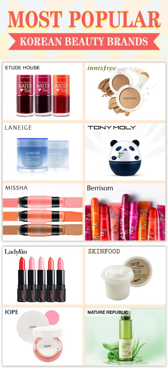 YesStyle Top 6 Most Popular Korean Beauty Brands  Korean beauty