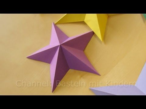 Bastelideen Weihnachten: Weihnachtssterne basteln mit Papier - YouTube #3dsterneauspapier