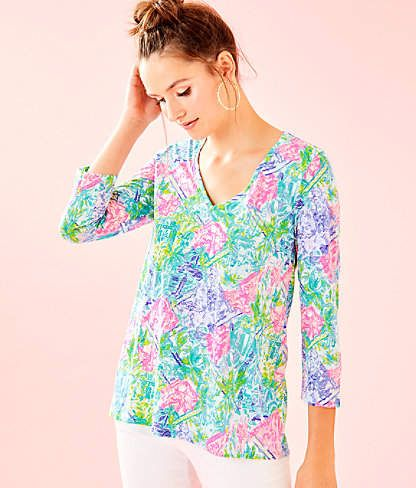 05f1c2275f9a8f Lilly Pulitzer Etta 3/4 Sleeve Top in 2019 | Products | Tops ...