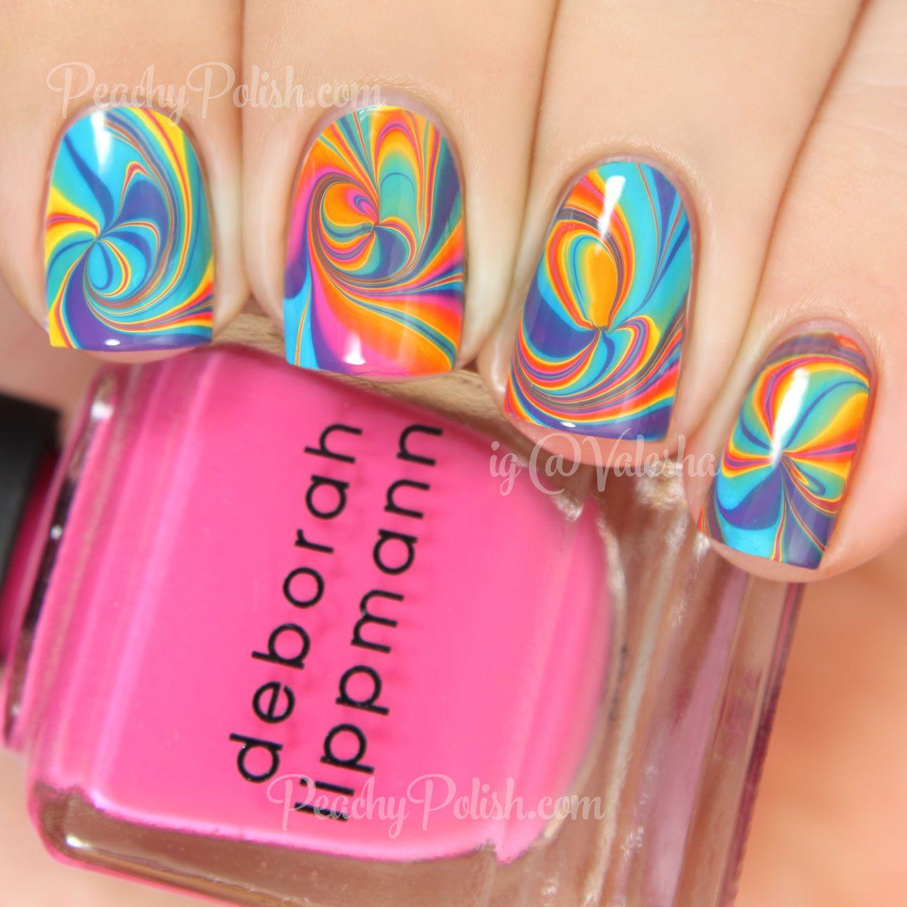 Deborah Lippmann Watermarble Nail Art | Peachy Polish | Beauty and ...