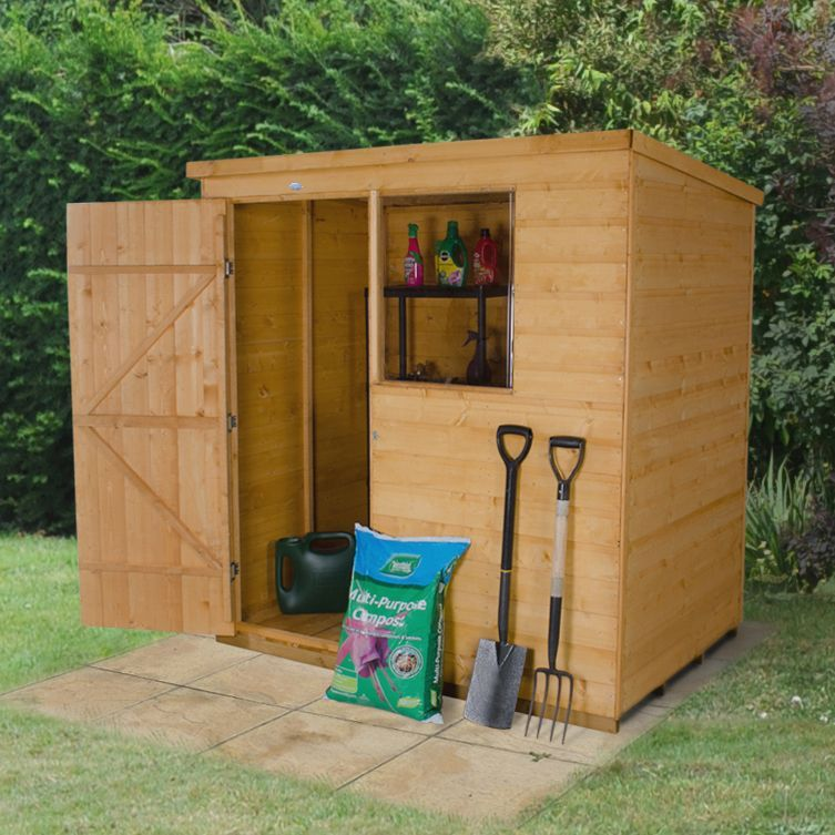 Garden Sheds 6x4 6x4 pent shiplap wooden shed | furniture plans, wood furniture and