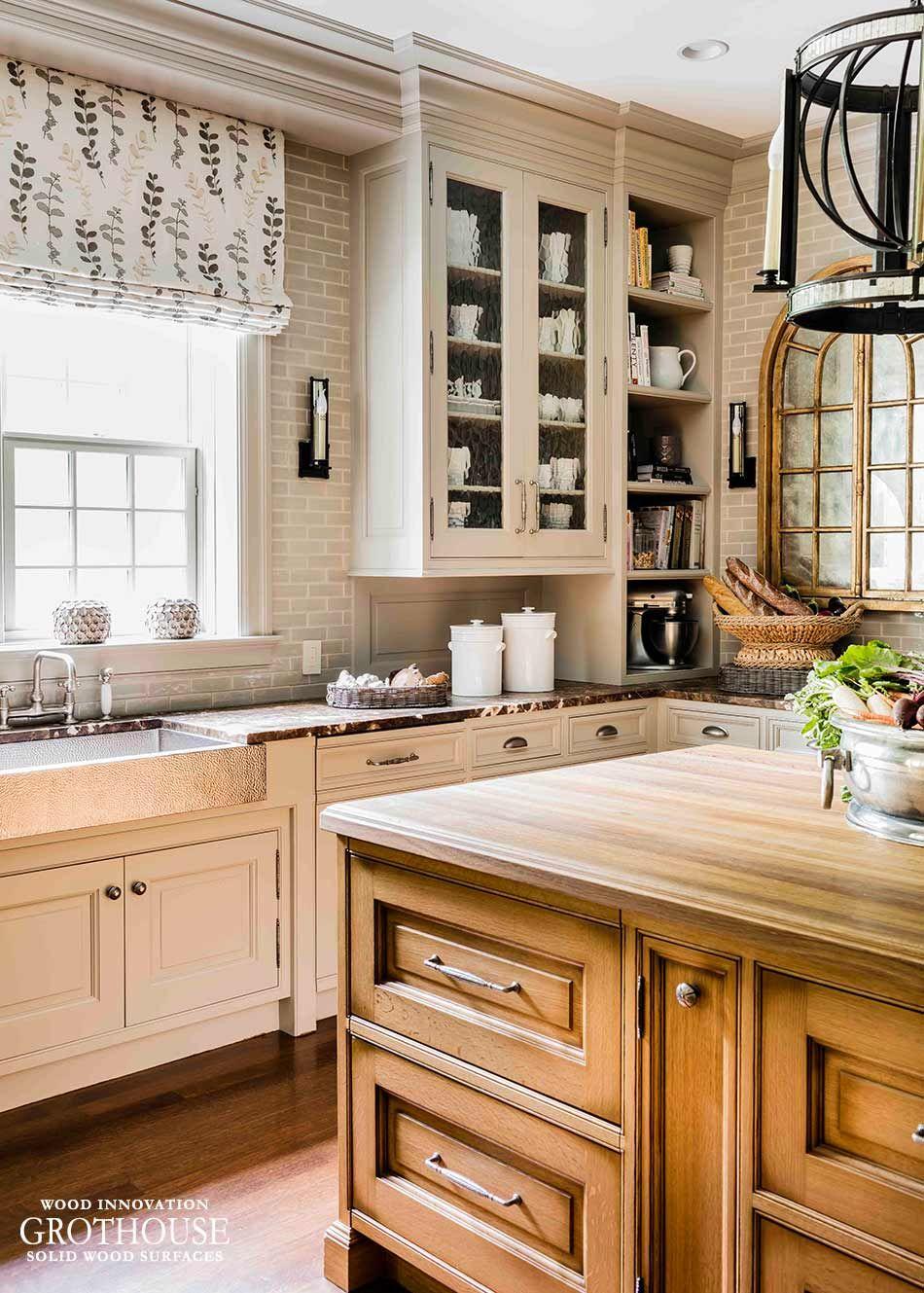 Best Old World White Oak Kitchen Island Top Wellesley Ma Https 400 x 300