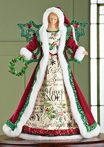 Christmas Tabletop Angel Tree Topper Collections Etc Http Www Amazon Com Dp B00or4g Angel Tree Topper Angel Christmas Tree Topper Christmas Angel Decorations