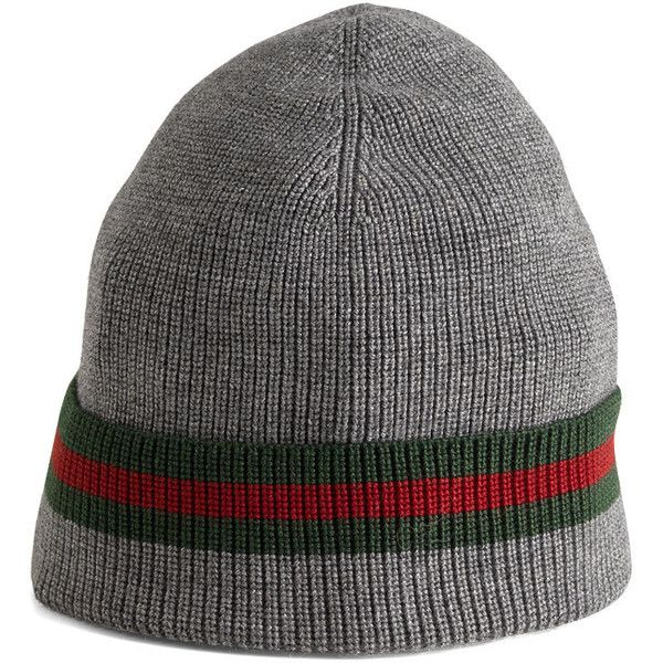 6079eeff8e7 Gucci Knit Cap ( 250) ❤ liked on Polyvore featuring accessories ...