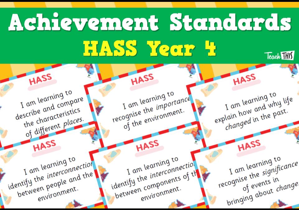 Achievement Standards - HASS Year 4