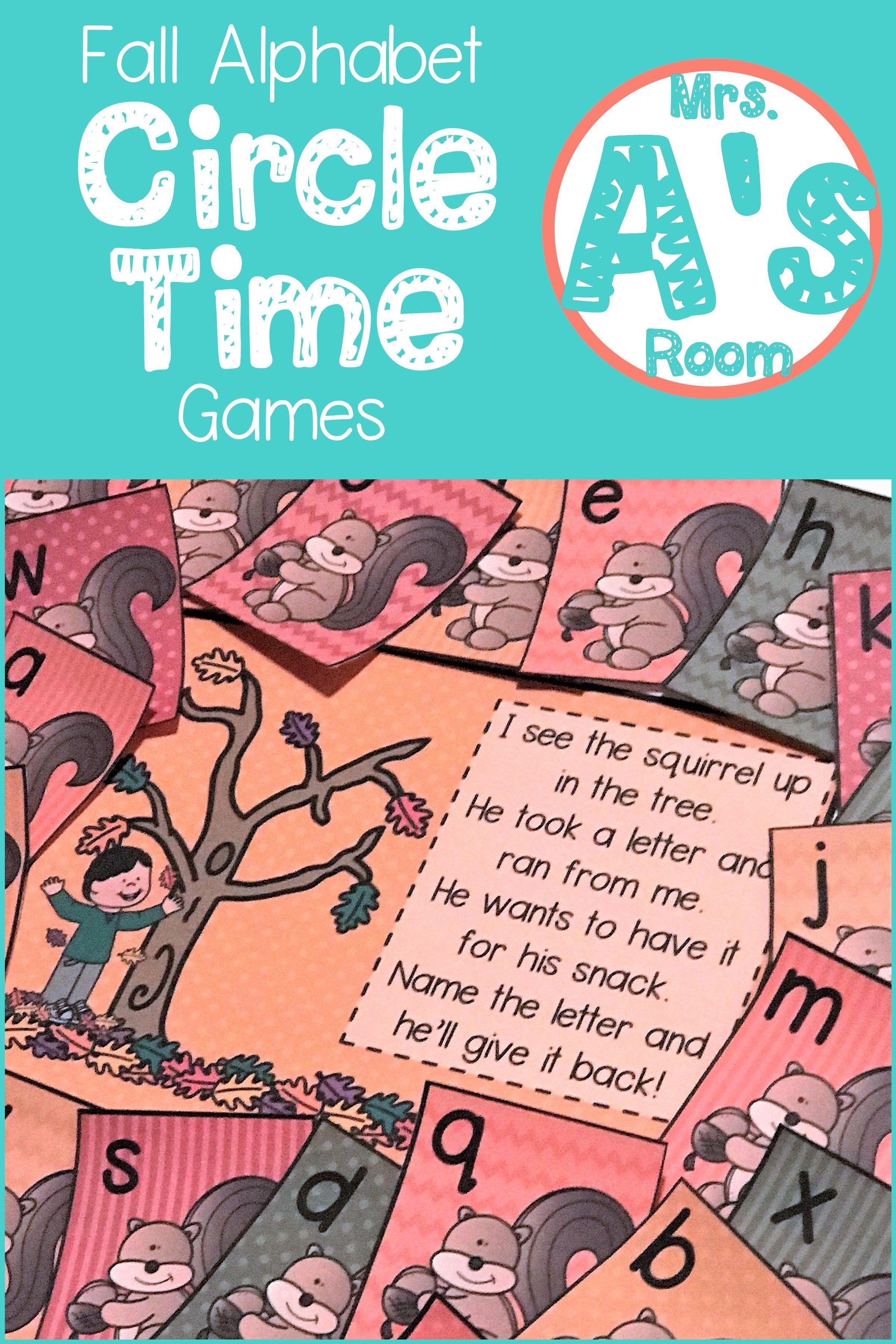 Fall Alphabet Circle Time Games