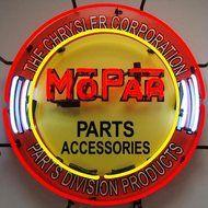 Mopar Parts Round Neon Sign