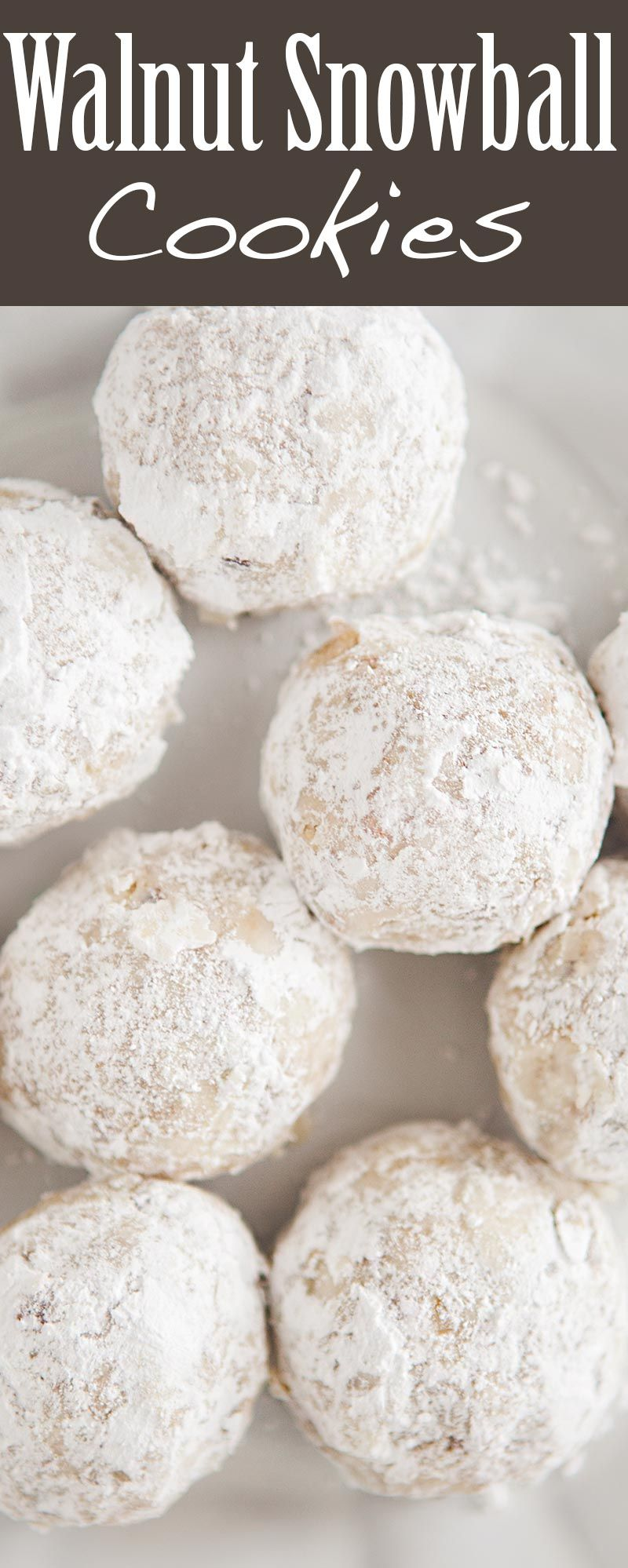 Festive Holiday Snowball Cookies Made With Finely Chopped Walnuts