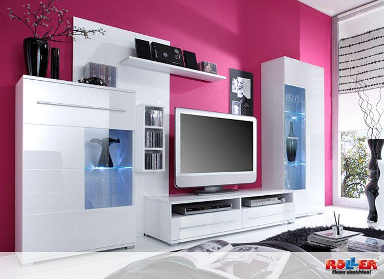 #Wohnwand SPEED II: Große, Trendige Wohnwand In Modischem Style Für Das  Aktuelle Wohnzimmer