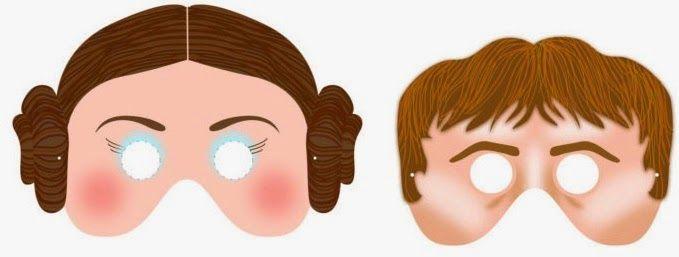 Máscaras de Star Wars para Imprimir Gratis.   Ideas y material ...