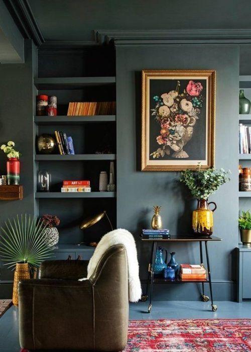 Gruene Wandfarbe Tipps  Anna Von Mangoldt Boho Interior Apartmenttherapy.com Www.decohome.de