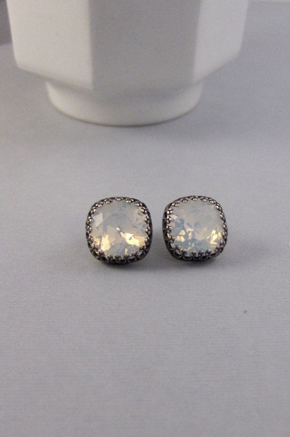 MoonStone StudsEarring MoonstoneStud by ValleyGirlDesigns on Etsy