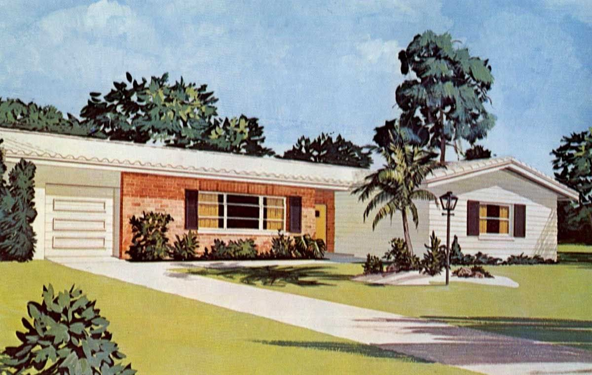 1960 39 s ranch house ranch style pinterest 60 s 1960s for 1960 ranch house plans
