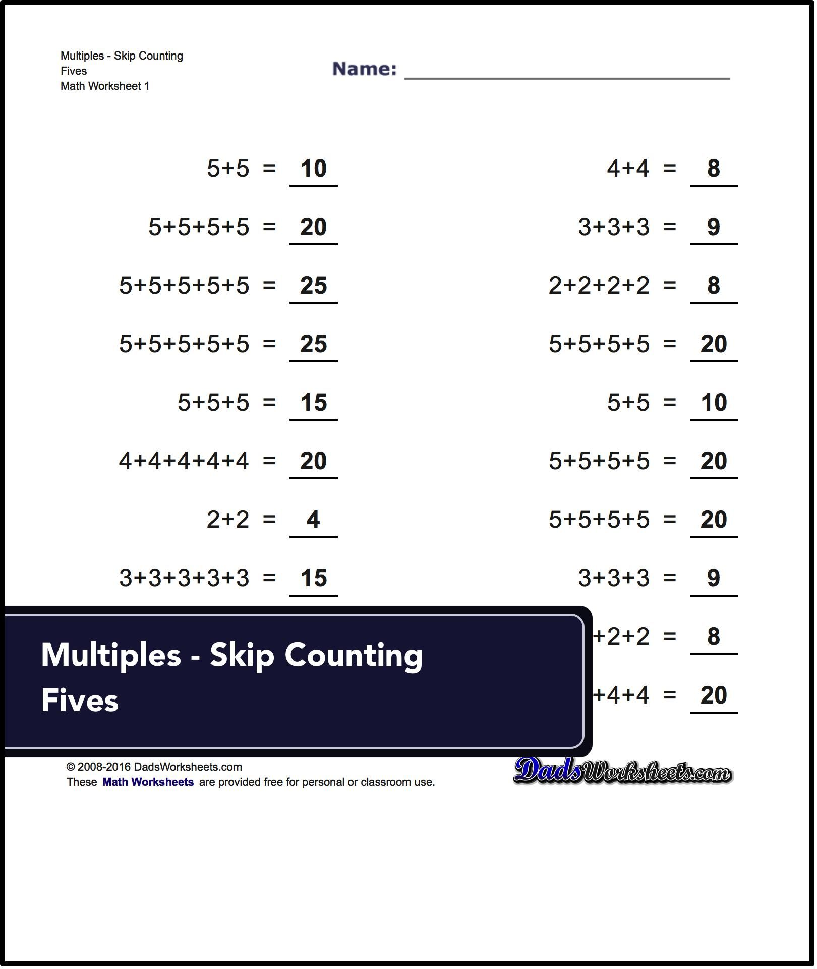 Excellent Stepping Stone To Multiplication Addition