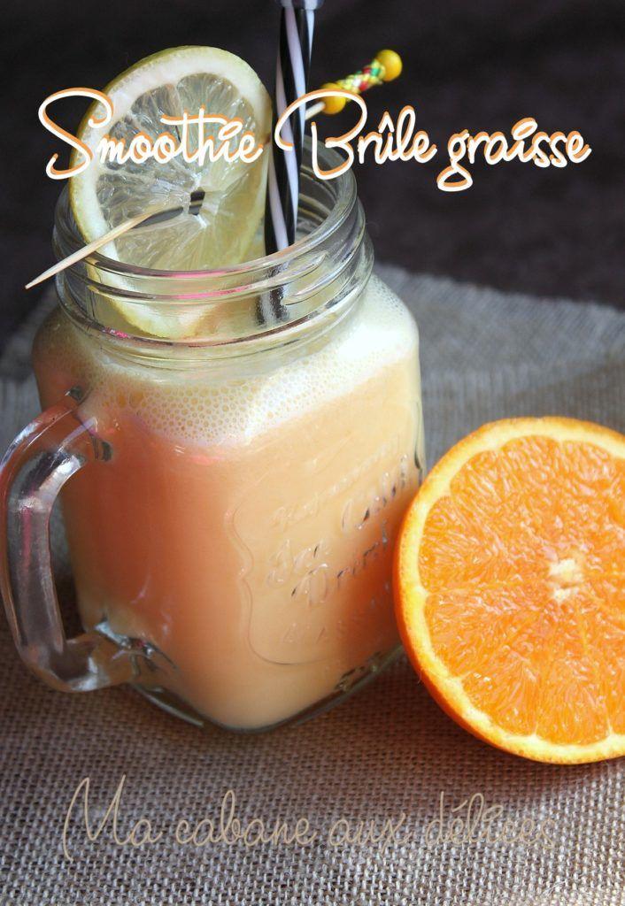 Smoothie brûleur de graisses orange citron