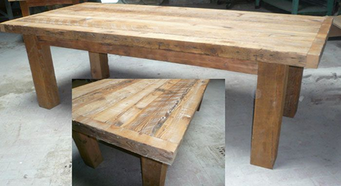 Reclaimed Wood Table By Groundwork In Pennsylvania.
