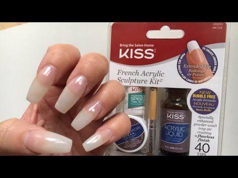 Diy Kiss Acrylic Kit I Nagel Mit Dem Acryl Set Von Kiss Ohne Uv Lichthartungsgerat I Marina Si Youtube Acrylnagelformen Nagelsets Diy Nagel