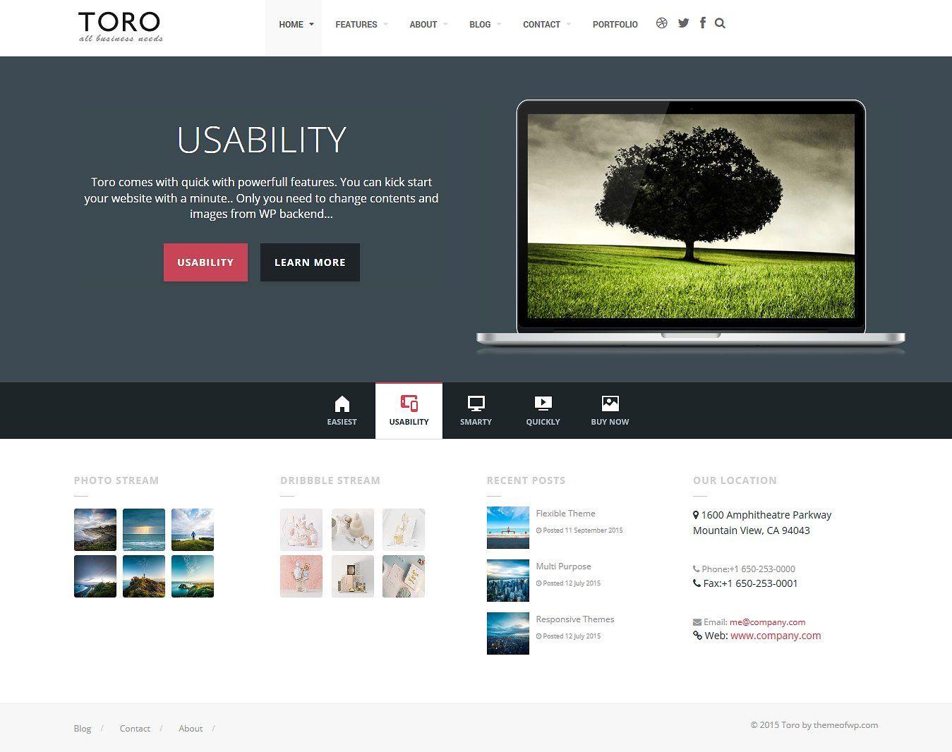 Toro Business Portfolio WordPress #browsers#plugins#Ultra#RTL | my