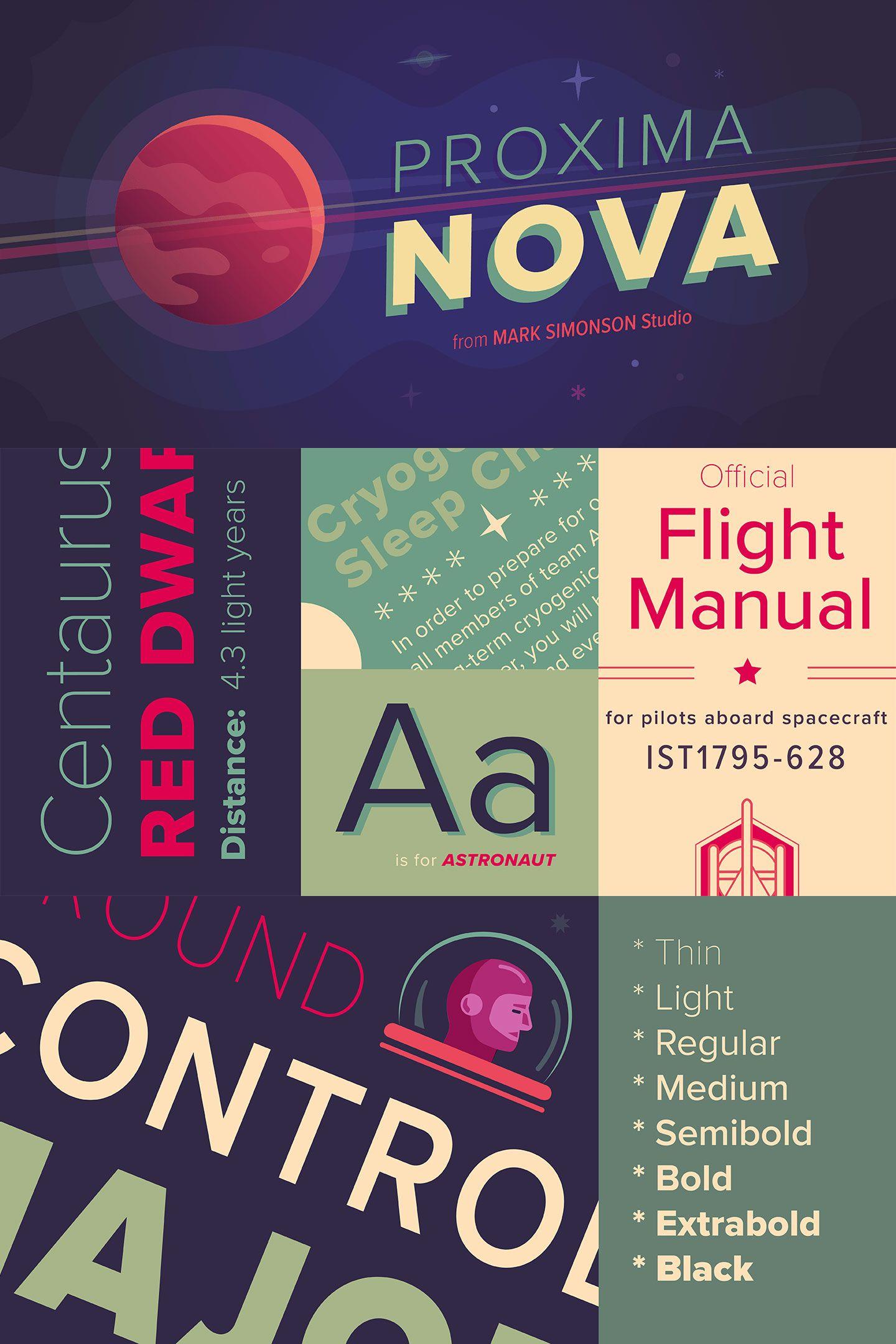 Proxima Nova Font Family Poster Fonts Typographic Design Fonts