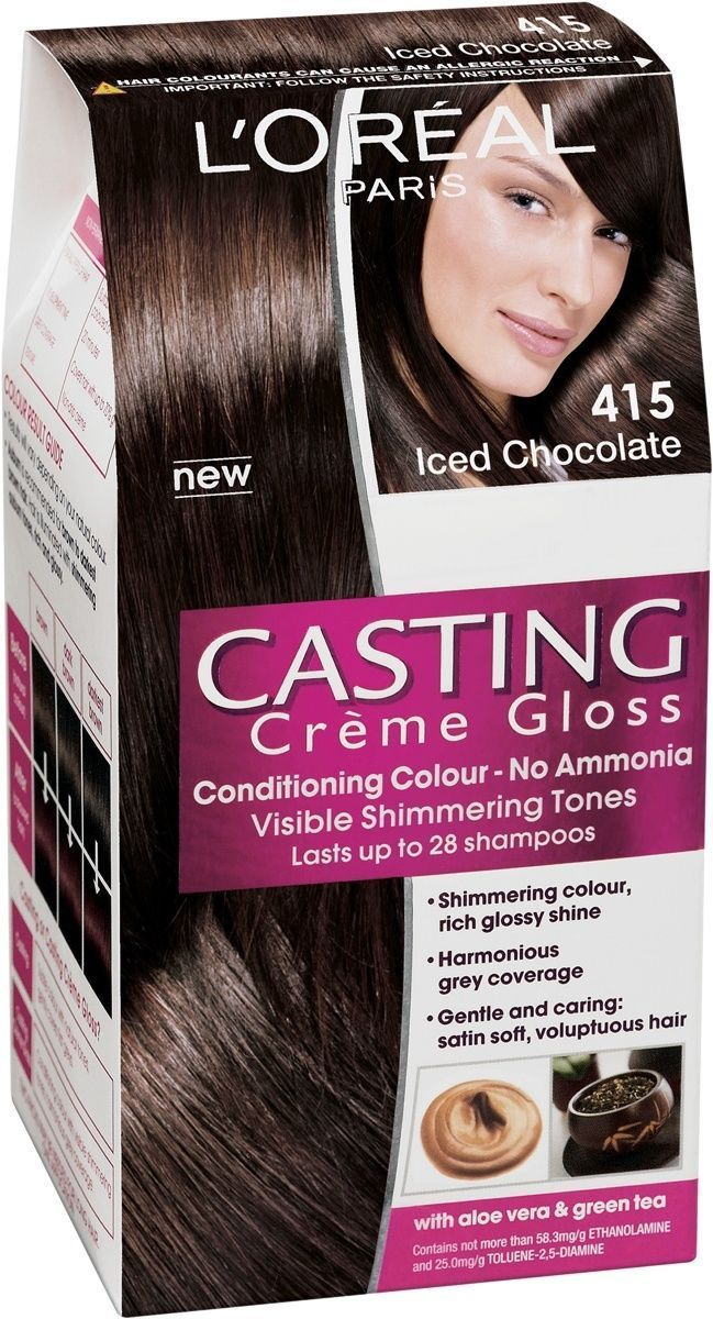 Loral Casting Crme Gloss 415 Iced Chocolate Permanent Hair Dye No