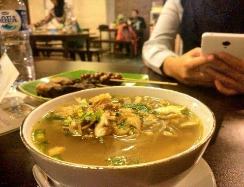 The delicious soto kudus. Traditional culinary at Indonesia