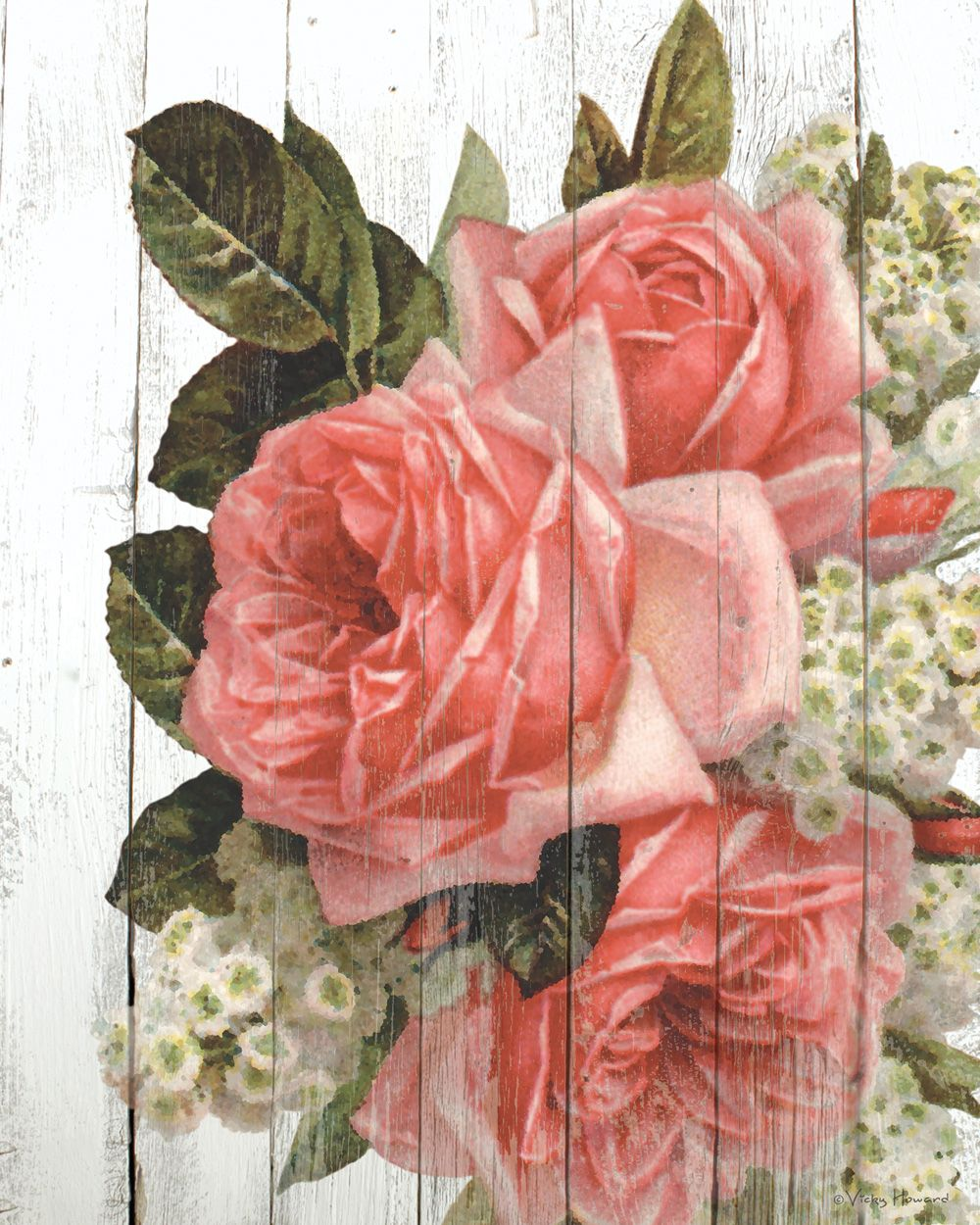 Vintage Rose Free Printable On Aged Barn Wood Background Shabby Chic Diy Projects Shabby Chic Diy Vintage Flower Backgrounds