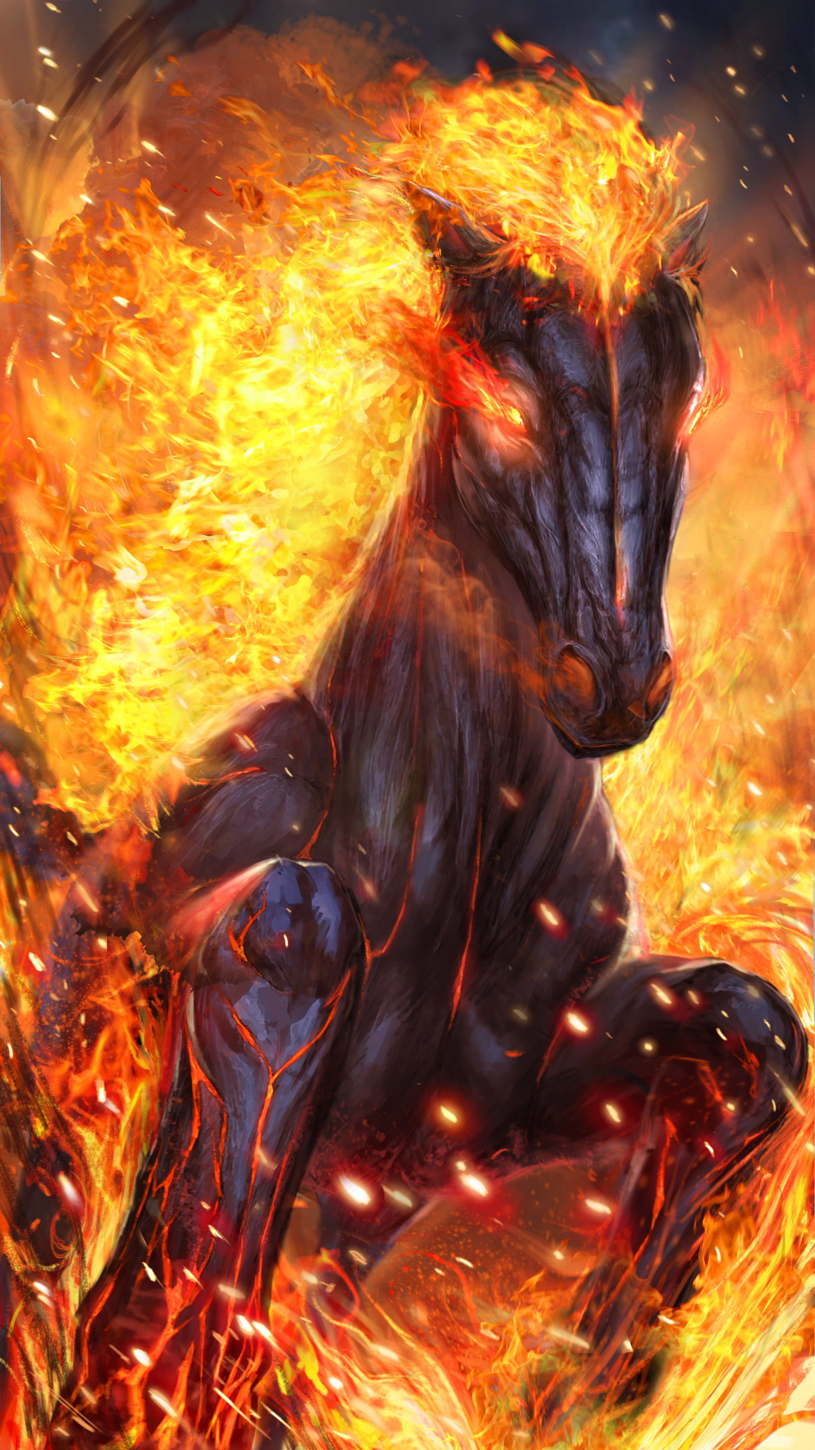 Hot Fire Horse Live Wallpaper