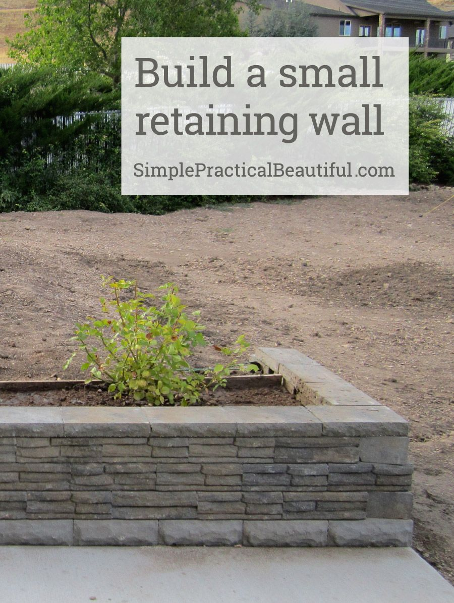 A small retaining wall retaining walls walls and yards a small retaining wall amipublicfo Image collections