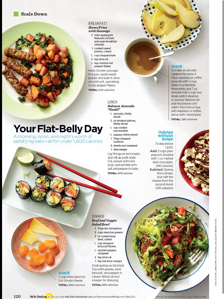 Flat belly day women\'s health mag | Healthy cooking/baking ideas ...