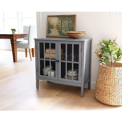 Windham Two-Door Storage Cabinet - Gray - Threshold in 2018