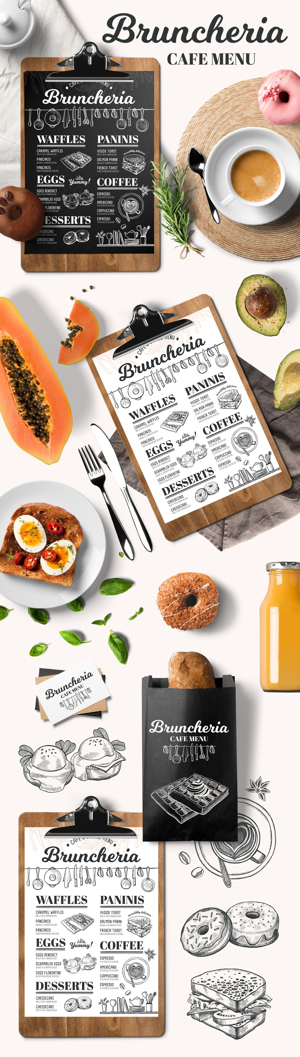 brunch menu  restaurant template