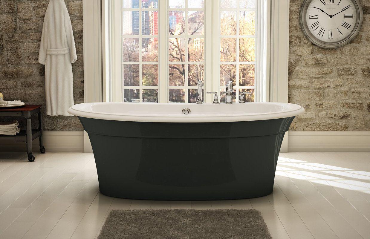 Maax 105744 Ella Sleek Freestanding Bathtub - FaucetDirect.com ...