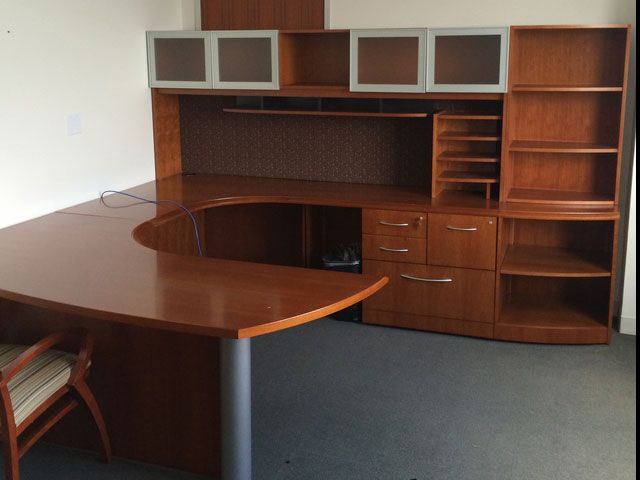 Office Furniture Outlet Provides Quality New and Used Office furniture  We  have the lagest Selection of Used Furniture in Hampton roads. Gunlocke Executive U Shaped Desk   In Our Showroom   Pinterest