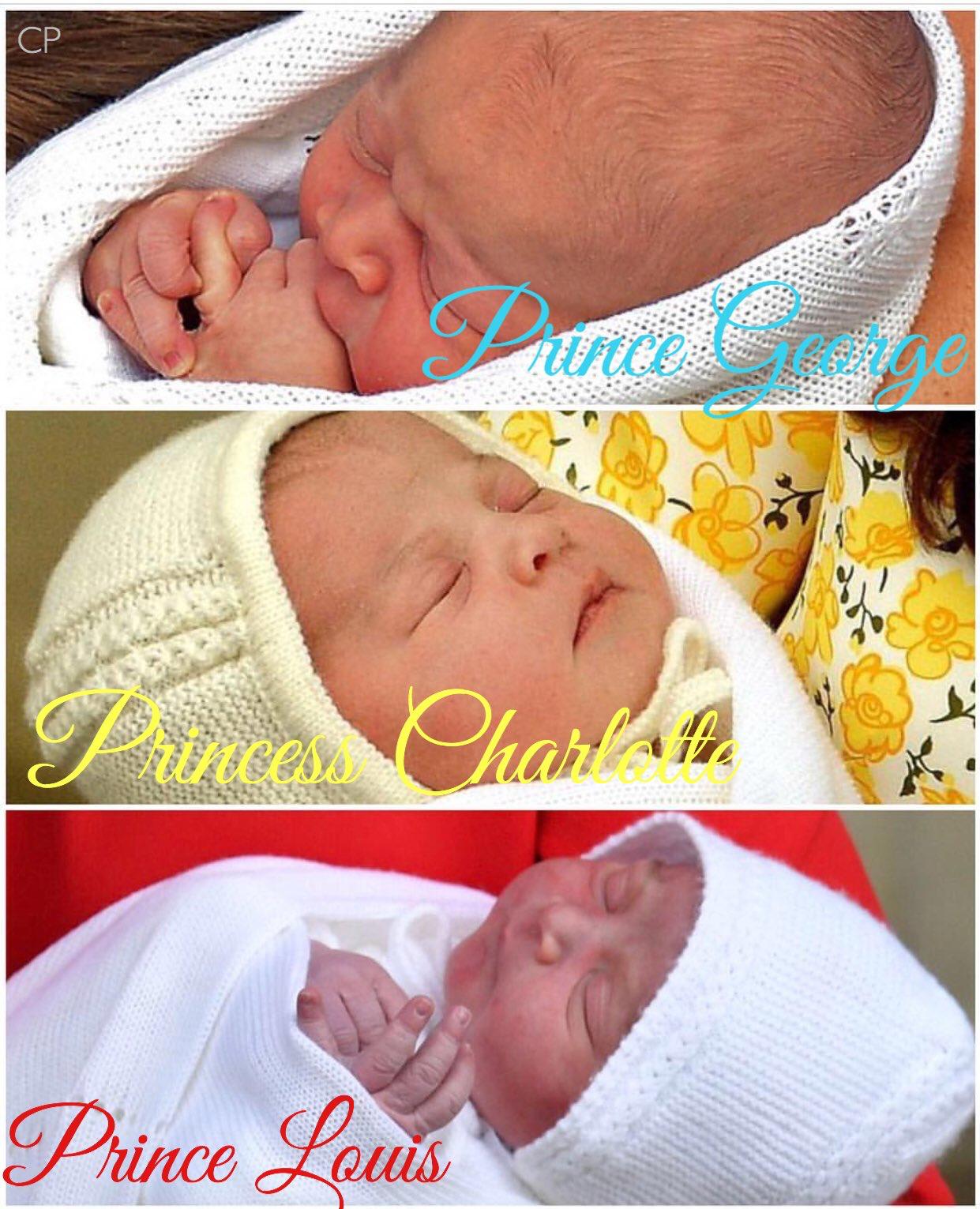 Prince Gorege.Princess Charlotte.Prince Louis