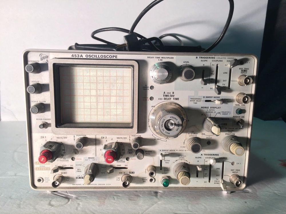 Tektronix 453A 50Mhz 2Channel Oscilloscope Tektronix