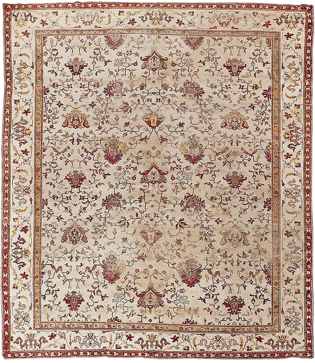 1900s Antique Hand Knotted Agra Rug 9 9 13 2 With Images Agra Rug Rugs Luxury Rug