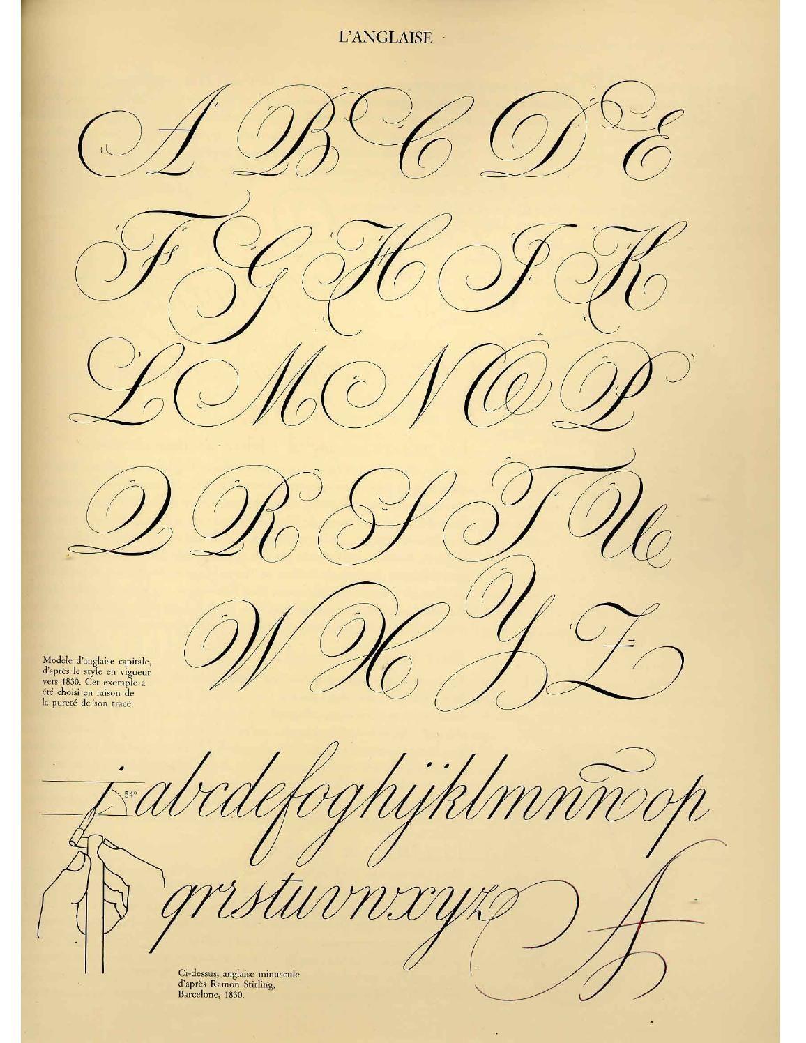 Calligraphie claude mediavilla ductus