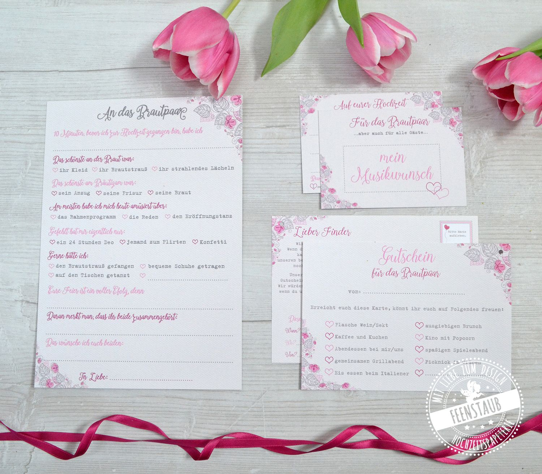 Karte Flower 3er Set Hochzeit Hochzeitspartys Ballonflugkarten