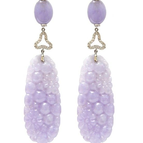 making articles with pictures purple jade on earrings beads instruction