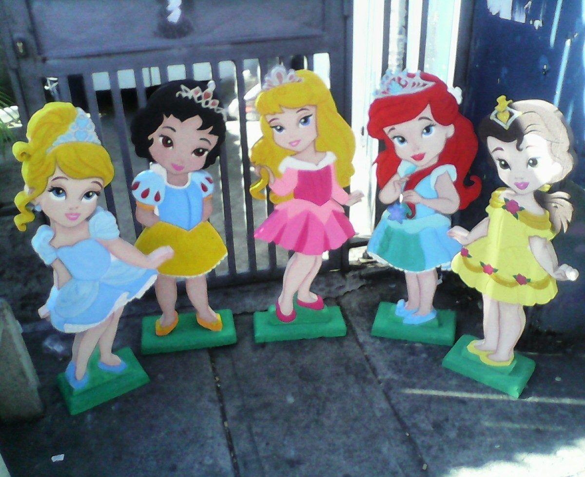 Figuras en anime y mdf para fiestas princesas bebe - Fiestas de cumpleanos de princesas ...