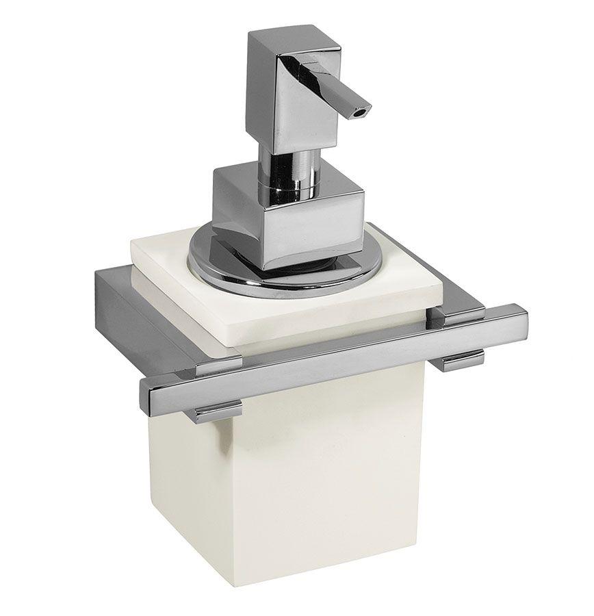 Carlo Iotti Accessori Bagno.Porta Dosatore Cube Di Carlo Iotti Vetro Vetrex Con Supporto E