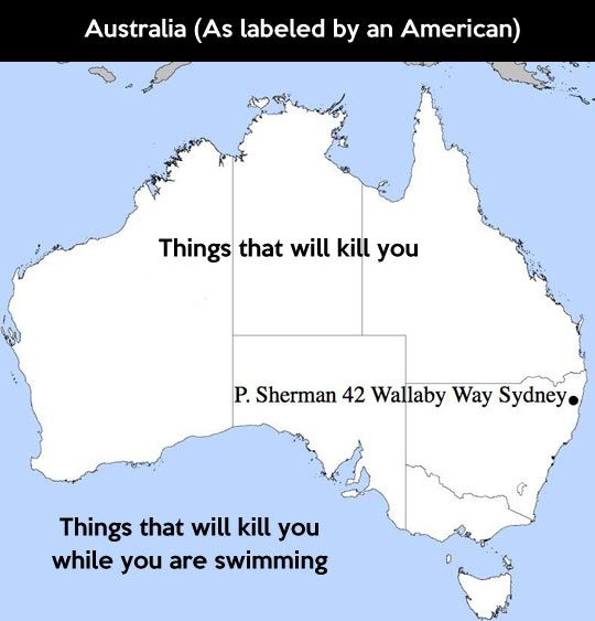 Australia as labeled by an American. | Australia funny ...