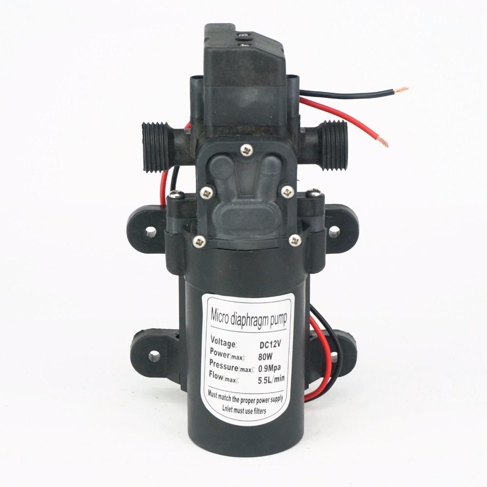 1 2 Bsp Male 12v Dc 80w Diaphragm Water Pump Self Priming Booster With Automatic Pressure Switch 330l H Home Garden Water Pumps Plumbing Cheap Pumps