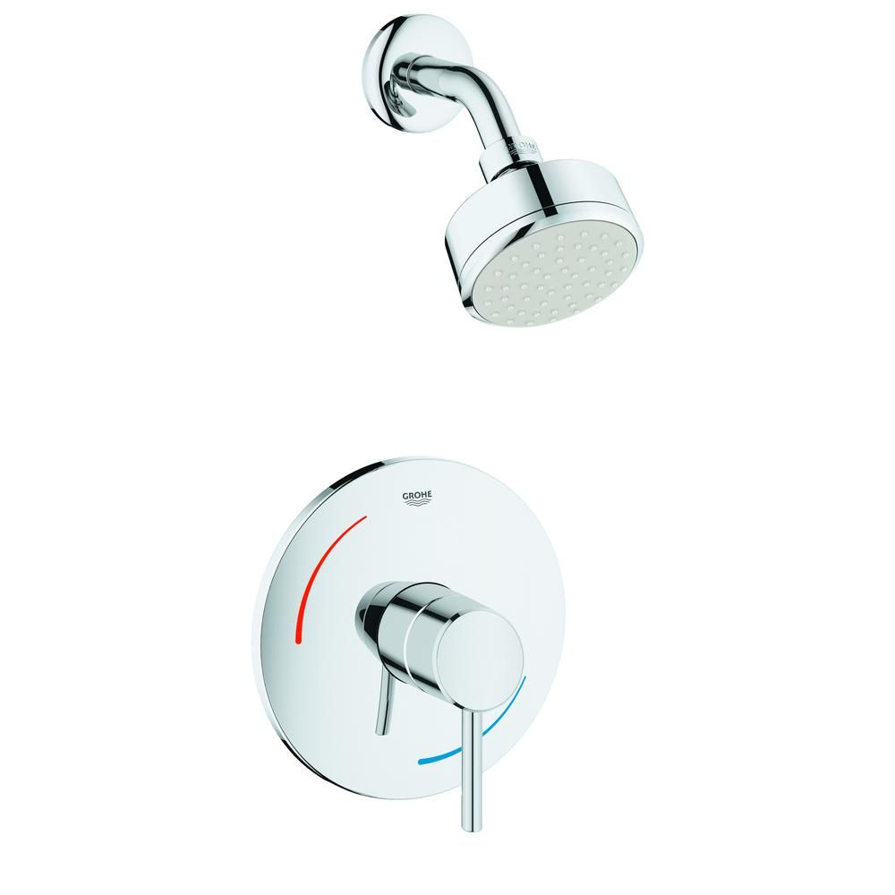Grohe Concetto 1 Handle 7 In Shower Faucet Trim Kit In Starlight