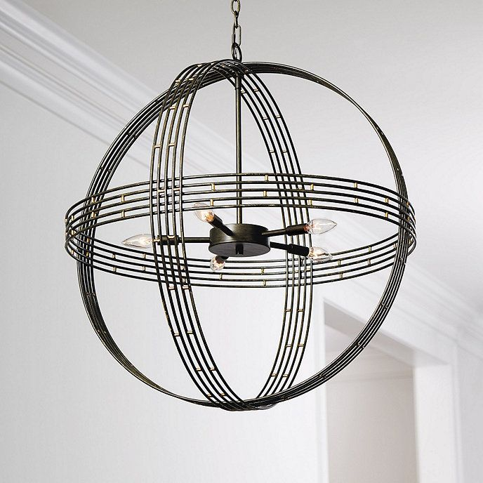 Banded Orb 5 Light Chandelier Ballard Designs Home Chandeliers And