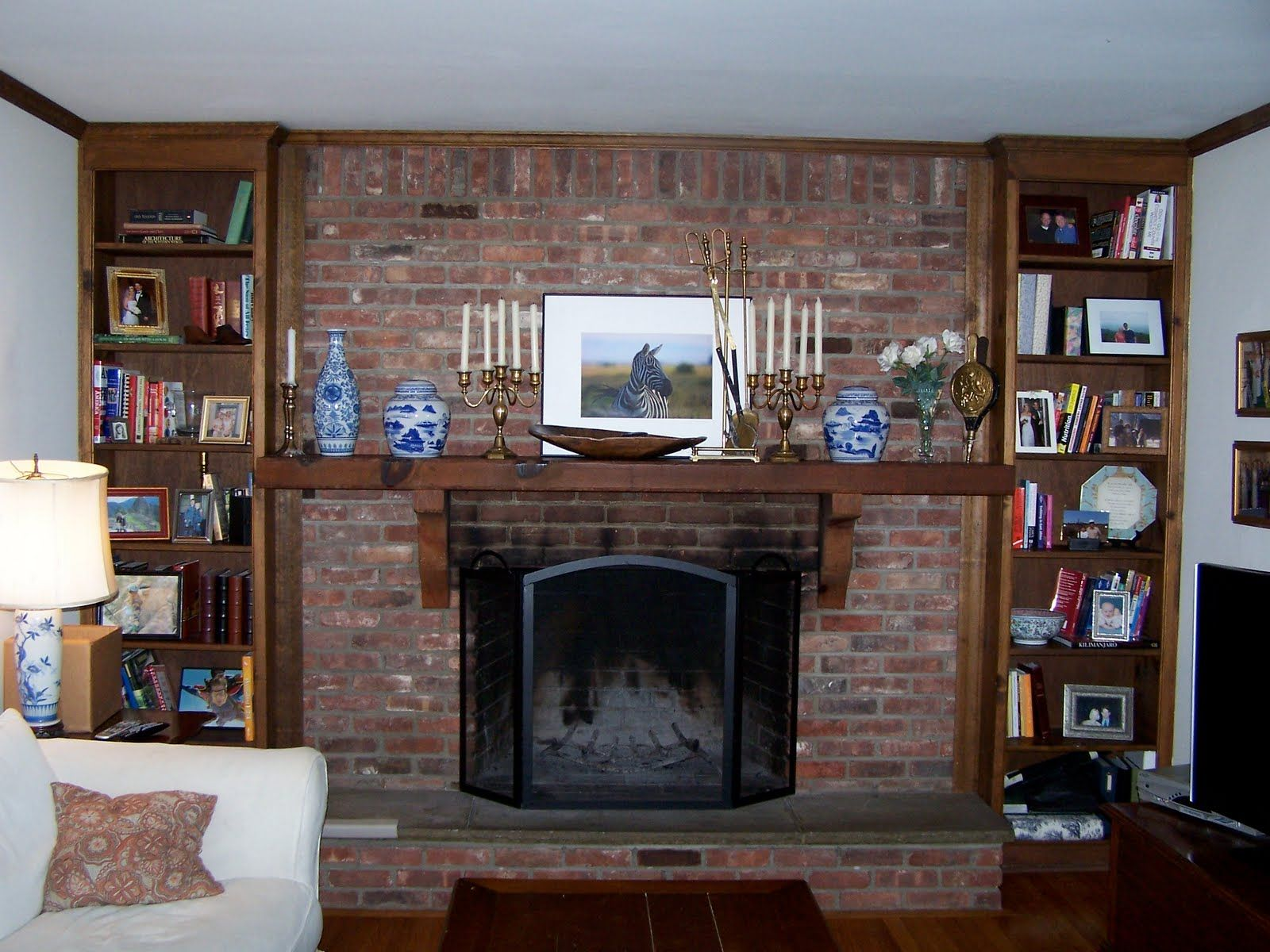 red brick fireplace decorating ideas | red brick fireplace wall